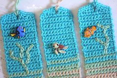 In an attempt to get my kids a little more excited about summer reading, I came up with these crochet beachy bookmarks that included the most adorable Disney Finding Nemo and Dory buttons!A super simple pattern that could be made in any color and embellished with all sorts of buttons or charms. Materials: – Caron …