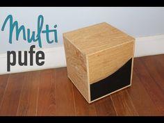 Pufe Multi - baú, revisteiro e mesa lateral - design DIY - YouTube