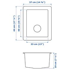 Norrsjon Evier Integre 1 Bac Acier Inoxydable 37x44 Cm Eviers
