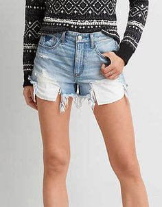 Inspired by vintage cutoffs, this fit sits high on the waist with a relaxed fit through the thigh.