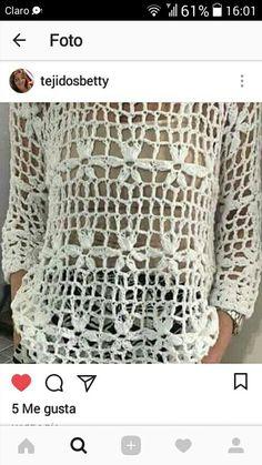 Crochet Jacket, Crochet Cardigan, Crochet Tank Tops, Knit Crochet, Dress Patterns, Crochet Patterns, Summer Blouses, Short Tops, Summer Diy