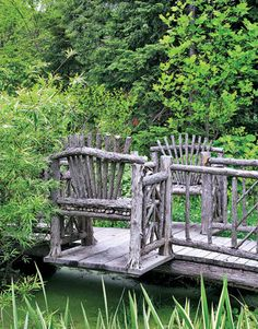 A wonderful bridge for a cottage garden.. I hope the troll is gone