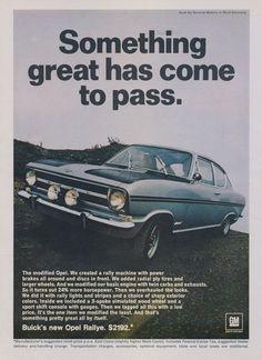 1967 Buick Opel Rallye Car Photo Ad Vintage by AdVintageCom