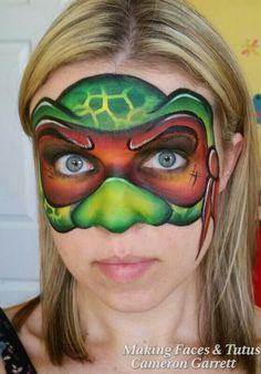 Ninja turtle face painting by Making Faces  Tutus www.MakingFaces.vpweb.com