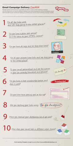 Email Marketing Infographic: Email Campaign Delivery Checklist by Email Marketing Campaign, E-mail Marketing, Marketing Software, Marketing Digital, Business Marketing, Internet Marketing, Online Marketing, Social Media Marketing, Content Marketing