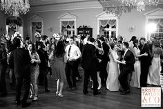 A full dance floor, dancing the night away at a recent weddding in Lovett Hall - Kristen Taylor Photography Blog