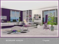 A modern teen bedroom set. Found in TSR Category \'Sims 4 Kids ...