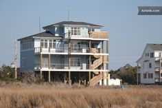 House in Waves, United States. This home is right on the Sound with Waterfront access with a Pier and walkway with steps down to the water.  Bedroom # 1 has private bath,  Locked entry to room from Living area and door to balcony from room.  The Living Area is shared with other...