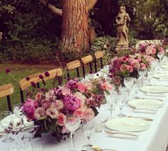 Bloom and plume table setting pink peony wedding