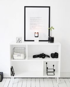 white ● minimalism ● inspiration ● pinned by Ikea Hallway, Minimal Apartment, Ikea Bookcase, Monochrome Interior, Ikea Shopping, Interior Styling, Interior Design, Hm Home, Small Condo