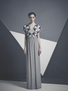 marquetry top and skirt with smocks
