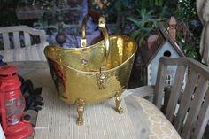 Antique Brass Coal Bucket $180