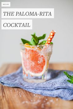 the paloma-rita cocktail recipe for #margaritaweek. a mix of the paloma and cadillac margarita with grapefruit, mint, and mezcal. get the full recipe on jojotastic.com