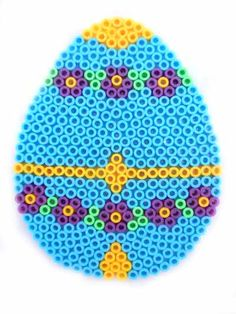 Hama perler bead Easter Egg by beadmerrily