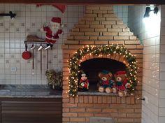 Decoração de Natal na churrasqueira