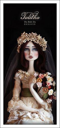"""Talitha"" Art Doll~Image © Christine Alvarado, 2011  #ArtDoll #bride"