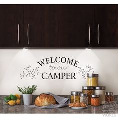 Removable Wall Decor - 'Welcome to Our Camper' - Brewster Home Fashions WS1488…