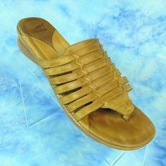 ce2f9c6b7d91 Dansko Topanga Womens 41 9.5-10 Tan Woven Strappy Thong Comfort Sandals  NICE  Dansko