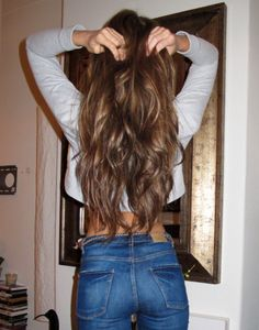 Long dark hair with highlights - @Courtney Halseth debating...... not sure if i want to stay dark or just add highlights to my hair color now.. hmmmm