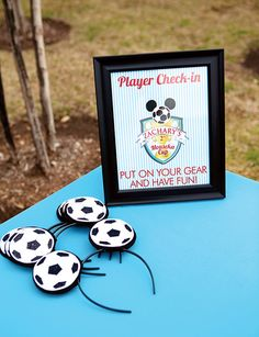 Blue & Red Mickey Mouse Soccer Party