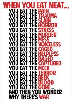 DO NOT EAT MEAT!! Quotes Vegan, Vegan Memes, Vegan Humor, Why Vegan, Vegan Vegetarian, Vegetarian Quotes, Going Vegetarian, Reasons To Go Vegan, Vegan Facts