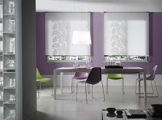 Projektujemy i szyjemy dekoracje okienne na indywidualne zamówienie. Zapraszamy do ShowRoom Częstochowa UL. Rejtana 25/35 tel. 609114338 Ul, Interior Decorating, Decorating Ideas, Showroom, Purple, Pink, Dining Chairs, Furniture, Home Decor