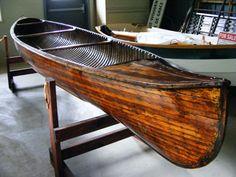 1929 Peterborough cedar strip canoe - we belong together. via antiqueboatamerica.com