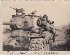 Look at the treads and scars on this M-26 Pershing. I don't think Worry Wart made it back according to my uncle.