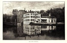 Antique print Rozendaal Kasteel Rosendael 1887 houtgravure gravure castle