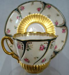 Haviland Limoges Tea Cup w Saucer Antique China Very RARE France