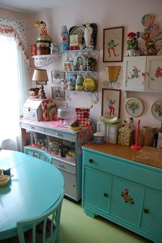 Kitschy Kitchen super cluttered but love all of the knick knacks                                                                                                                                                                                 More