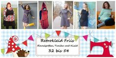 Nähanleitungen Mode - E Book Damen Retrokleid Friis Gr.32-54 - ein Designerstück von Lolletroll bei DaWanda