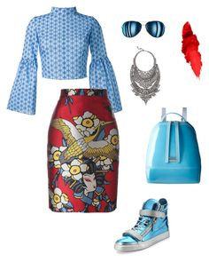"""""""Untitled #242"""" by stylistrr on Polyvore featuring Daizy Shely, Dsquared2, Giuseppe Zanotti, Furla, Maybelline and DYLANLEX"""