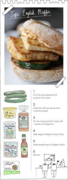 The Vegan Stoner's Tofu English Muffin