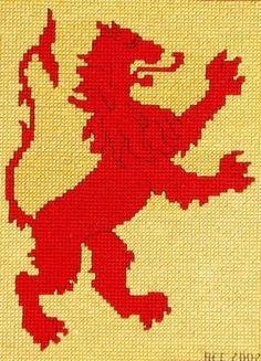 Scottish Lion Cross Stitch Pattern by BonnieThistleDesigns on Etsy, $7.00  Add the words: Lionheart.