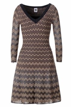 #MMissoni   Knit Lurex Chevrons Dress   Spring 2014 Collection