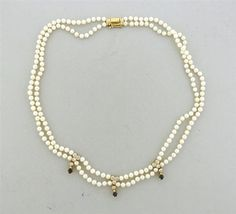 18K Gold Pearl Diamond Sapphire Necklace Featured in our upcoming auction on October 10!