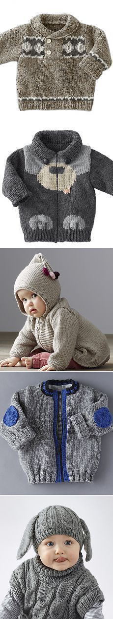 Baby Knitting Patterns Cardigan Knitting for kids, knitting needles, Phildor. Baby Knitting Patterns, Baby Sweater Knitting Pattern, Knit Baby Sweaters, Knitting For Kids, Crochet For Kids, Knitting Stitches, Knitting Designs, Baby Patterns, Hand Knitting