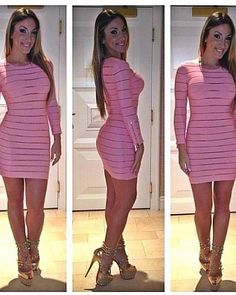 The perfect pink bodycon dress Sexy Dresses, Cute Dresses, Cute Outfits, Party Outfits, Stylish Outfits, Summer Outfits, Passion For Fashion, Love Fashion, Fashion Outfits