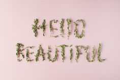 Hello Beautiful by Floral Deco on @creativemarket