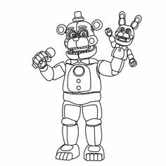 Fnaf Freddy Funtime coloring pages printable and coloring book to print for free. Find more coloring pages online for kids and adults of Fnaf Freddy Funtime coloring pages to print. Fnaf Coloring Pages, Star Wars Coloring Book, Coloring Pages To Print, Free Printable Coloring Pages, Coloring Sheets, Coloring Pages For Kids, Coloring Books, Kids Coloring, Five Nights At Freddy's