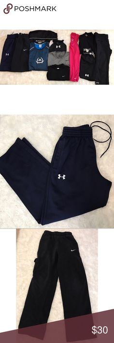 ATHLETIC CLOTHING LOT XS S M L XL #04 ❌PLEASE DO NOT BUNDLE ANY OF THE LOTS TOGETHER, the shipping weight will be over the limit and I will cancel your order!❌ Price is for all• diff sizes •will not sell/list individually •all my bundles have received 5 stars• diff. brands & styles included  •Although all items are inspected carefully and in very excellent condition,some items may have signs of wear, piling or stains that can be removed with stain remover or clothes shaver •All items sold as…