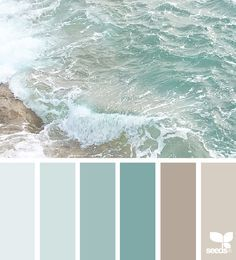 55 ideas for bathroom colors blue sea design seeds Bedroom Paint Colors, Interior Paint Colors, Paint Colors For Living Room, Paint Colors For Home, Beach Paint Colors, Beach Bedroom Colors, Beach House Colors, Bathroom Colours, Bathroom Color Schemes