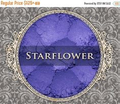 SALE STARFLOWER Matte Eyeshadow: Samples or Jars, Vibrant Violet, Loose Powder Eyeshadow, Cosmetic Pigment, VEGAN Makeup, Ships Out in 6-10 by FabledFragrances on Etsy https://www.etsy.com/au/listing/198434723/sale-starflower-matte-eyeshadow-samples