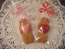 10 Chocolate Heart Gingerbread Men Wedding Engagement Birthday Favours