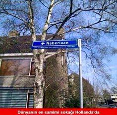 Dünyanın en samimi sokağı Hollanda'da. (sokağın adı: Naberlaan) #mizah #matrak #komik #espri #şaka #gırgır #komiksözler #caps