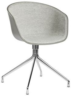About a chair Swivel armchair Light grey fabric by Hay - Design furniture and decoration with Made in Design Swivel Armchair, Upholstered Chairs, Hay Chair, Hay About A Chair, Hay Design, Conference Chairs, Fabric Armchairs, Kartell, Executive Chair