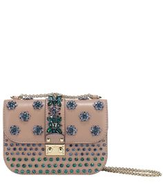 Beige Glam Lock Embellished Cross-Body Bag, Valentino at Liberty.co.uk