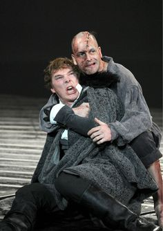 BENEDICT CUMBERBATCH as Victor Frankenstain and JOHNNY LEE MILLER as Frankenstain's monster in DANNY BOYLE's stage play - superb!