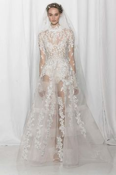 See more wedding dresses from Reem Acra Bridal Fall 2017.